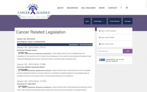 SC Cancer Alliance - Legislation