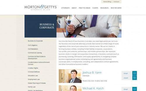 Morton and Gettys - Practice Areas