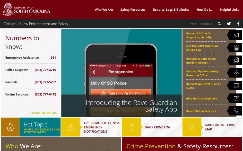 USC - Department of Law Enforcement and Safety - Homepage