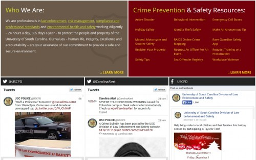USC - Department of Law Enforcement and Safety - Homepage2