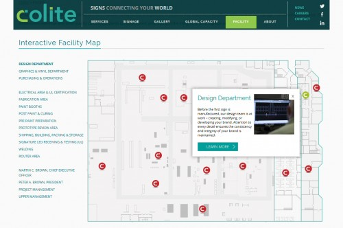 Colite International - Facility Map