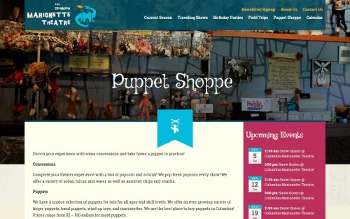 Columbia Marionette Theatre - Puppet Shoppe